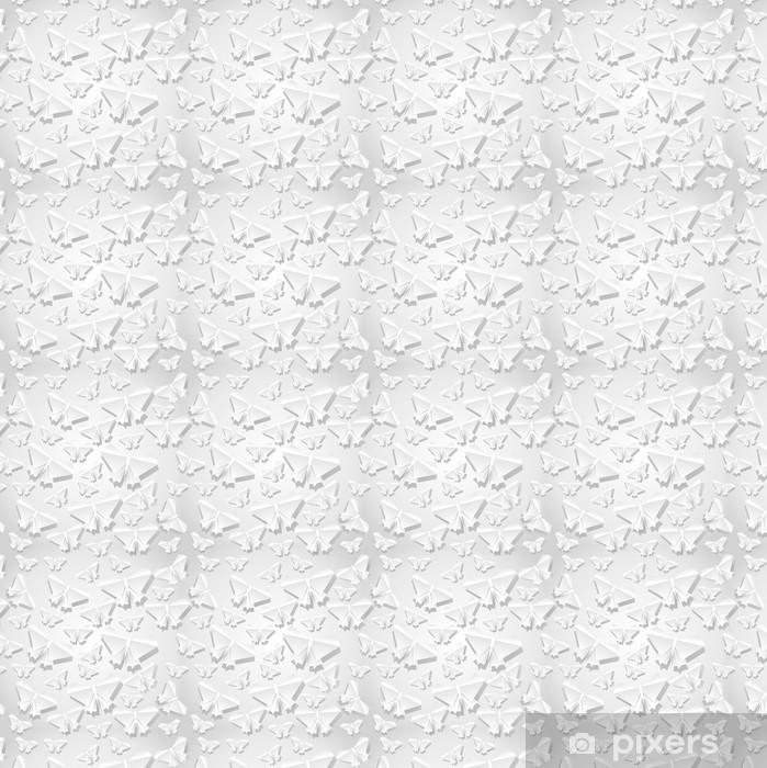 Vinyltapete nach Maß Origami Hintergrund. Das Papier ist für Schmetterlinge verwandelt. - Freiheit