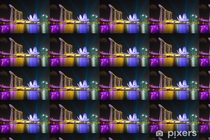 Papier peint vinyle sur mesure Hôtel Marina Bay Sands au laser éclairage spectacle - Industrie lourde