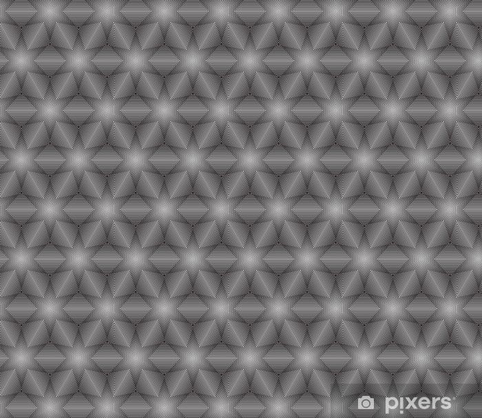 Vinyltapete nach Maß Schwarz-Weiß-Op-Art Design Vector Seamless Pattern Hintergrund - Hintergründe