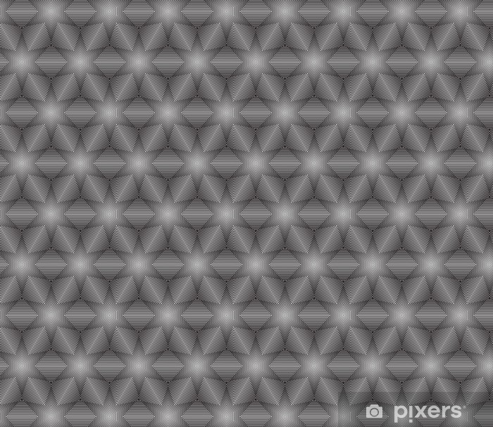 Black and White Op Art Design Vector Seamless Pattern Background Vinyl Custom-made Wallpaper - Backgrounds