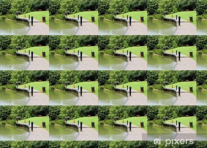 Vinylová tapeta na míru Singapore botanická zahrada - Voda