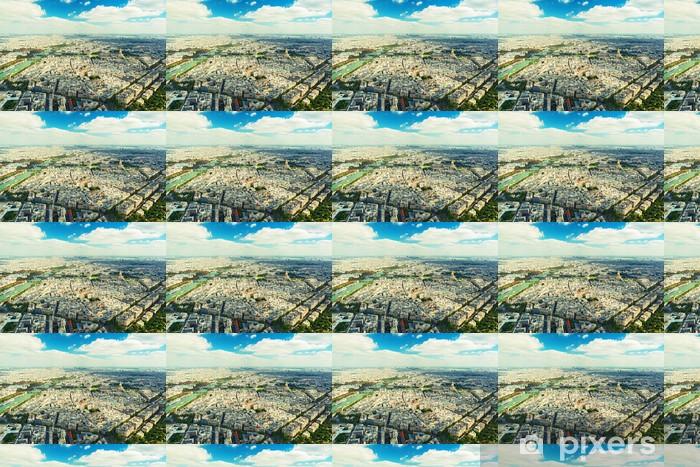 Tapeta na wymiar winylowa Widok na Paryż z wieży Eiffla - Pejzaż miejski