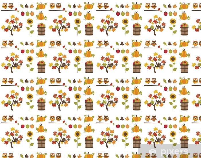Papier peint vinyle sur mesure Ensemble d'automne - Fleurs