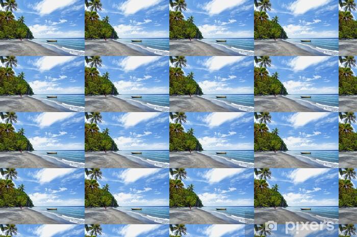 Papier peint vinyle sur mesure L'île de Sainte-Lucie - Amérique