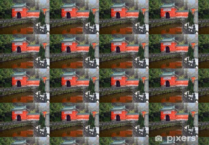Vinyltapete nach Maß Lila Wolke Tempel in Wudang-Berge, China - Asien