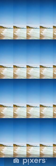 Carta da parati in vinile su misura Spiaggia di sabbia e le onde del mare - Acqua