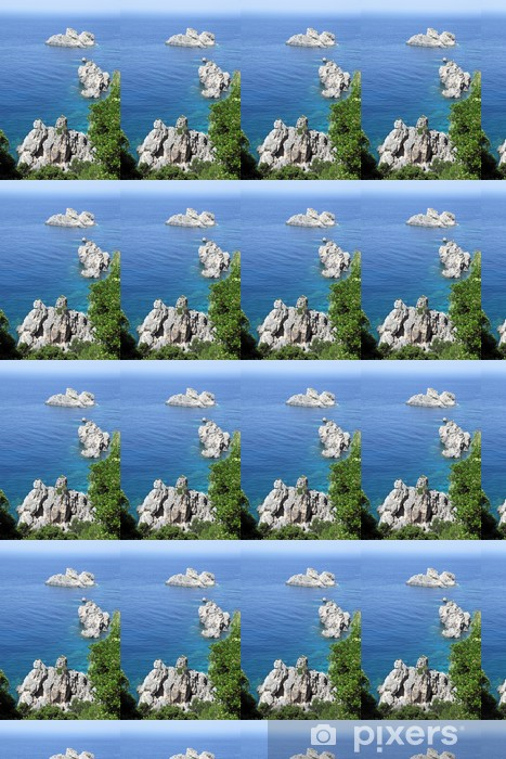 Papier peint vinyle sur mesure Seascape près de Paleokastritsa. Île de Corfou, en Grèce. - Nature et régions sauvages