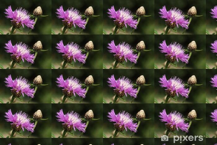 Papier peint vinyle sur mesure Flockenblume - Fleurs