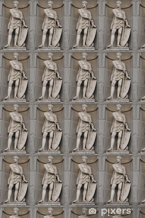 Papier peint vinyle sur mesure Florence Farinata degli Uberti Statue près du Ponte Vecchio - Monuments
