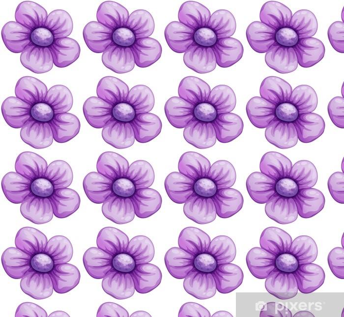 Papier peint vinyle sur mesure Une fleur de violette - Fleurs