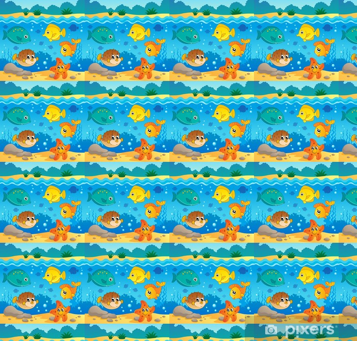 Underwater ocean fauna theme 4 Vinyl custom-made wallpaper - Themes