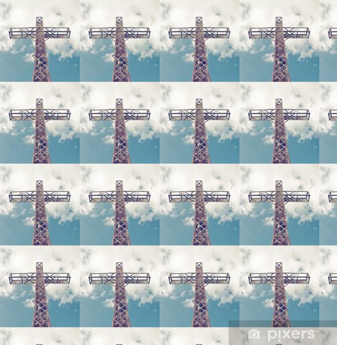 Papier peint vinyle sur mesure Sainte-Croix contre le ciel avec des nuages - Religion