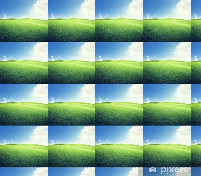Tapeta na wymiar winylowa Zielone pole i błękitne niebo - Pory roku