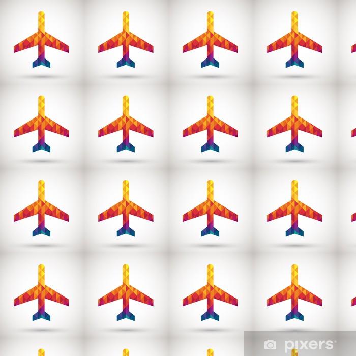 Carta da parati in vinile su misura Segno aeroporto con diamante colorato - Segni e Simboli