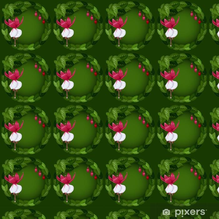 Tapeta na wymiar winylowa Wianek z kwiatów i liści - Świętowanie
