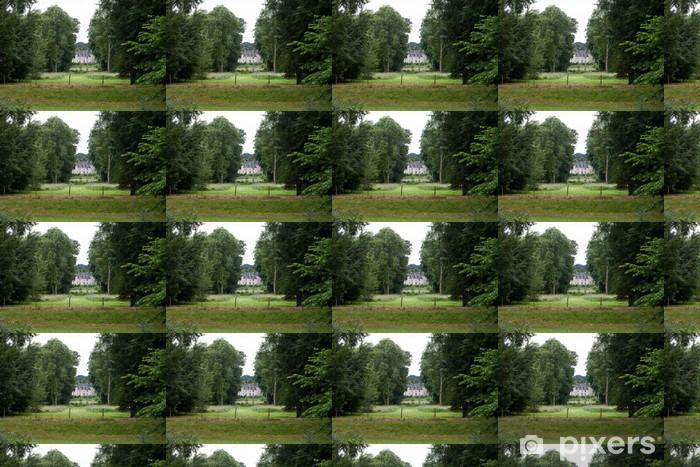 Papier peint vinyle sur mesure Jardin dans le château d'Azay-le-Rideau. Vallée de la Loire, France - Europe