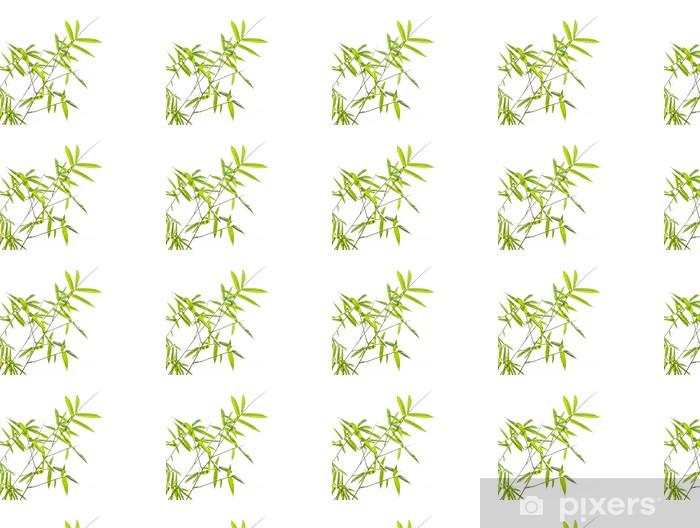 Vinyltapete nach Maß Bambus-Blätter auf weißem Hintergrund - Bäume