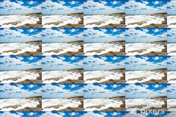 Punta del Diablo Beach, popular tourist place in Uruguay Vinyl Custom-made Wallpaper - America