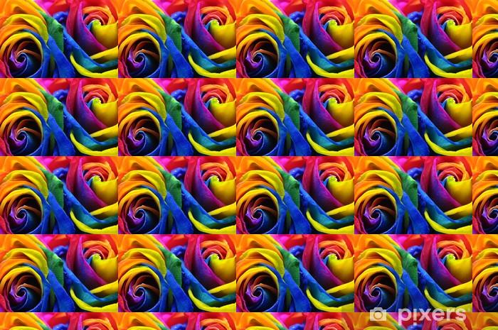 Vinyltapete nach Maß Regenbogen Rose oder Sonnenblume - Blumen