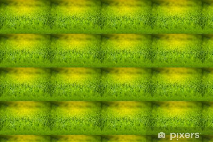 Tapeta na wymiar winylowa Świeże zielona trawa - Pory roku