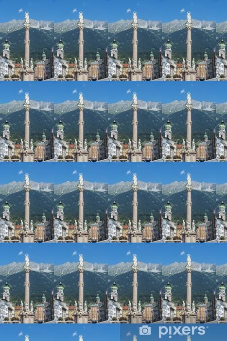 Papier peint vinyle sur mesure Saint Anne colonne à Innsbruck, en Autriche. - Europe