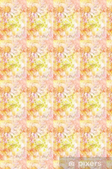 Vinyltapete nach Maß Hübsche Gänseblümchen künstlerischen Hintergrund - Stile