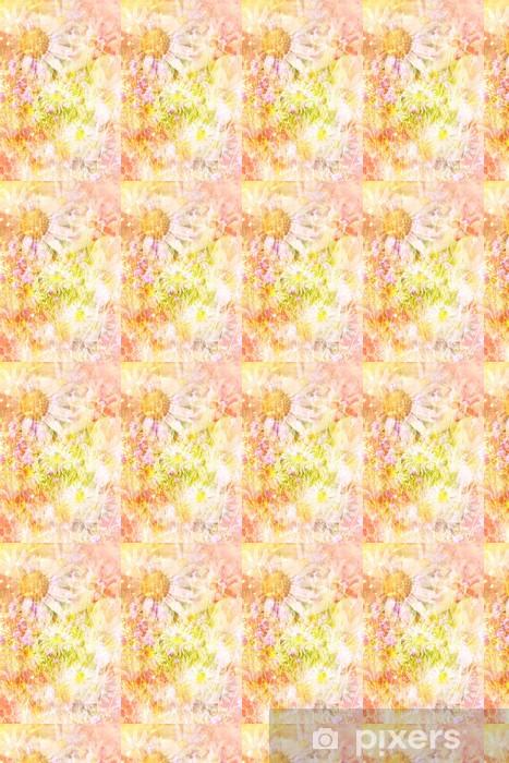 Pretty daisies artistic background Vinyl custom-made wallpaper - Styles