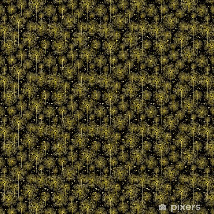 Papier peint vinyle sur mesure Pissenlits jaunes fleurs, seamless - Arrière plans
