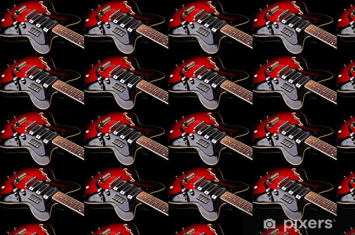 Papier peint vinyle sur mesure Près de musique guitare - Thèmes