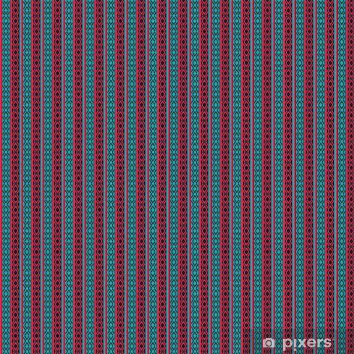 Tapeta na wymiar winylowa Geometryczny wzór włókienniczych etniczne - Tła