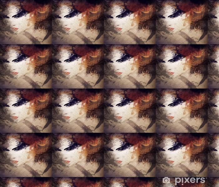 Vinylová tapeta na míru Abstraktní akvarel .woman portrét - Styly