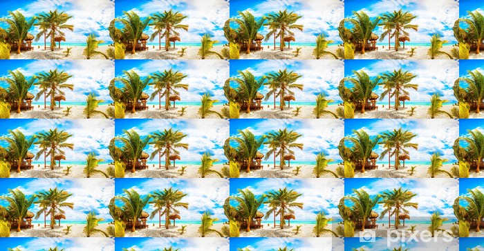 Vinylová tapeta na míru Dovolená a turistika koncepce: Caribbean Paradise. - Palmy