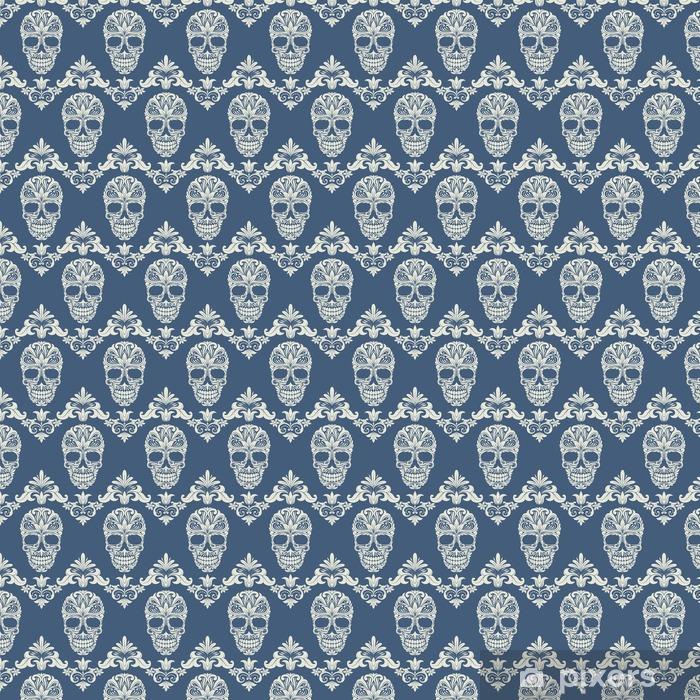 Skull Swirl Decorative Pattern Vinyl custom-made wallpaper - Life