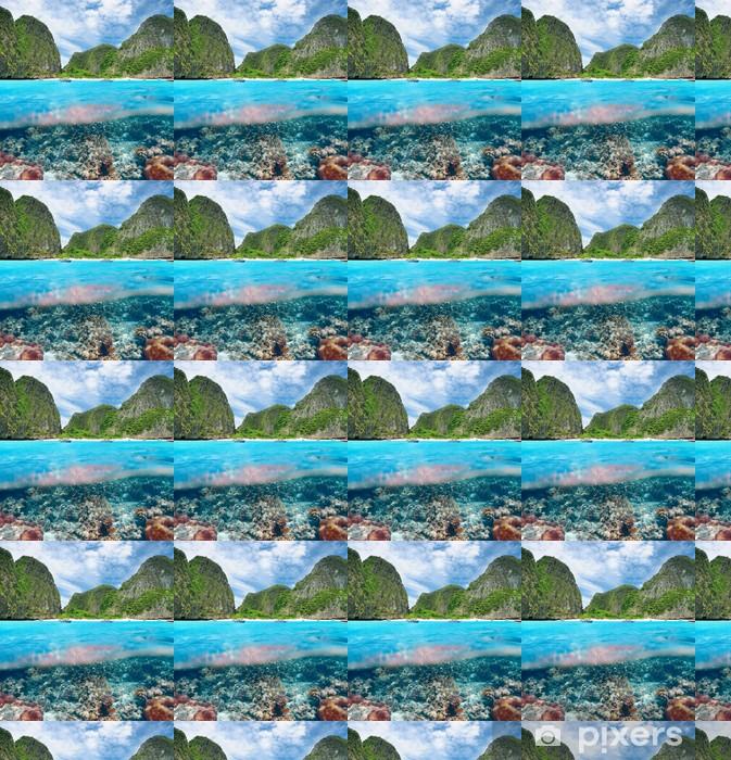 Vinyltapete nach Maß Lagoon mit Korallenriff Unterwasser-Blick - Unterwasser
