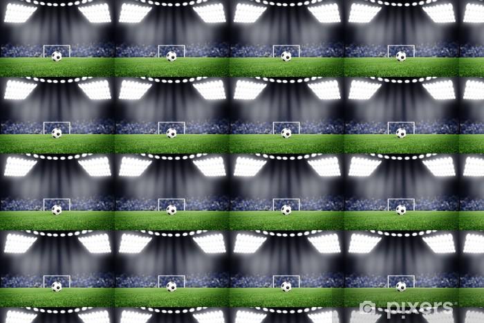 Tapete Fussball Auf Dem Feld Im Stadion Bei Nacht Nach Mass