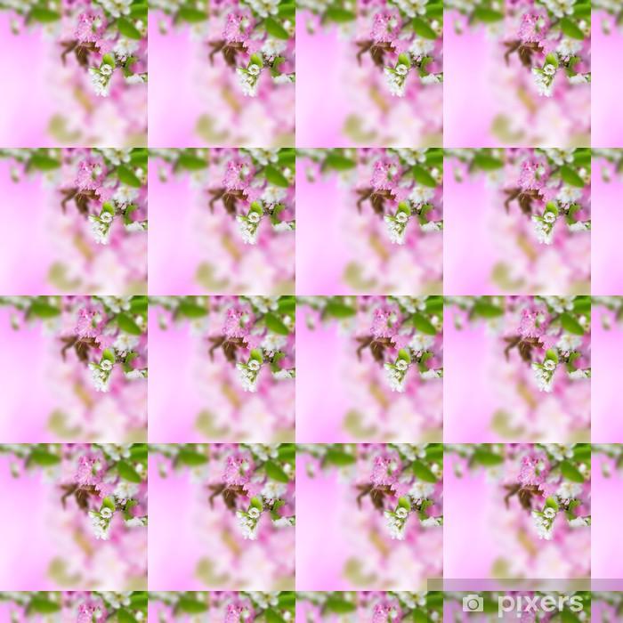 Papier peint vinyle sur mesure Fleurs de printemps fond - Animaux imaginaires