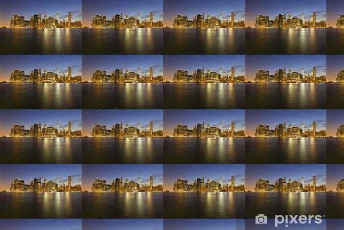 Vinyltapete nach Maß Skyline von Manhattan von Brooklyn At Night - Amerikanische Städte