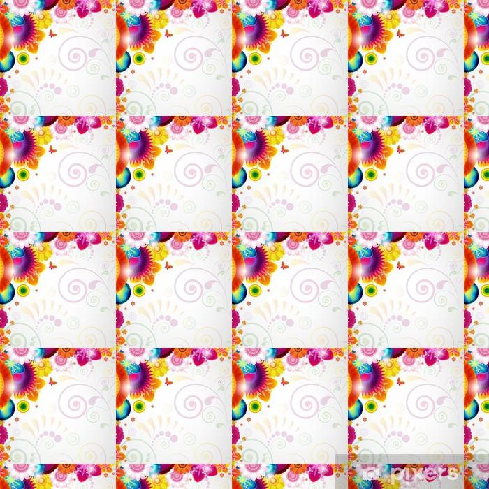 Papier peint vinyle sur mesure Fond de conception florale - Merveilles naturelles