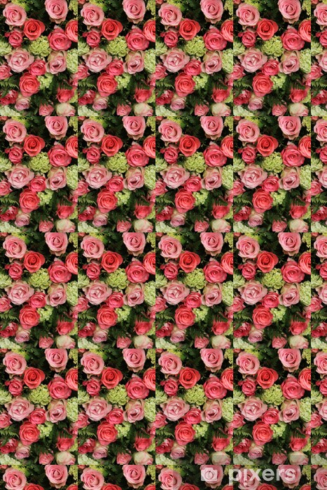 Bridal arrangement, pink roses and hydrangea Vinyl Custom-made Wallpaper - Celebrations