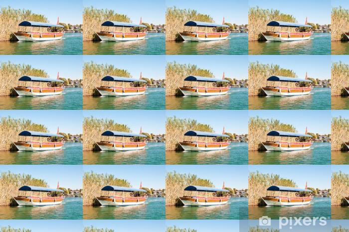 Vinyl behang, op maat gemaakt Turkije, een boottocht op de rivier Dalyan - Midden Oosten