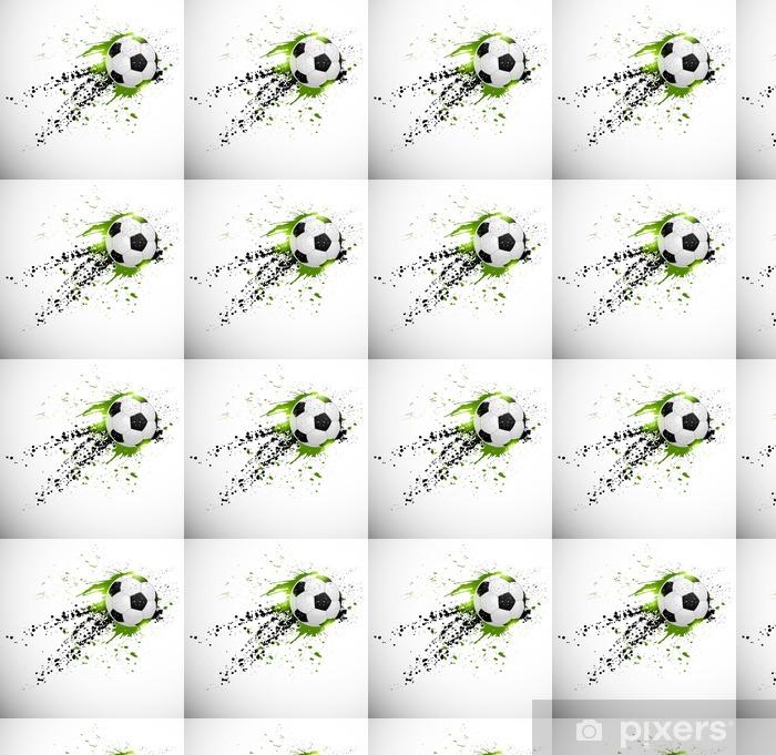 Flying soccer ball Vinyl custom-made wallpaper - Themes