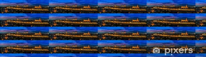 Vinyltapete nach Maß Florenz, Italien - Skyline in der Dämmerung - Europa