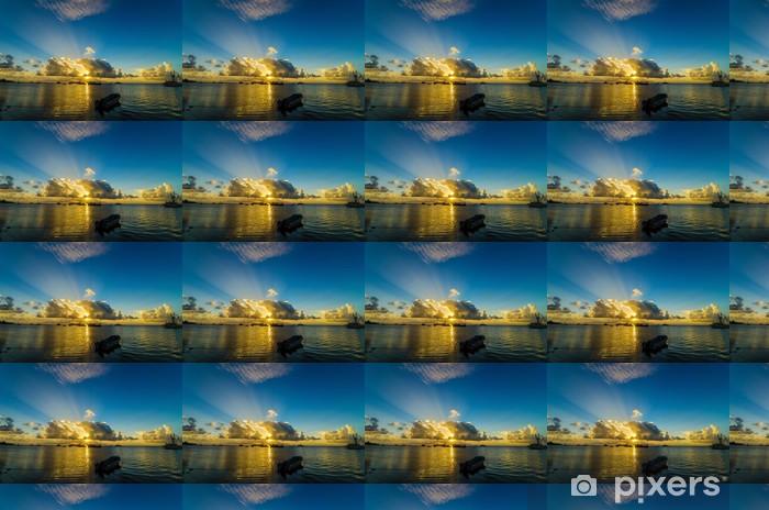 Papier peint vinyle sur mesure Bateaux dans la mer des Caraïbes - Amérique