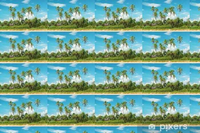 Tapeta na wymiar winylowa Palmy kokosowe na piaszczystym brzegu - Tematy