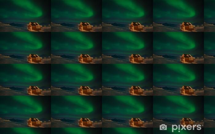 Tapeta na wymiar winylowa Zorza polarna nad Tasiilaq, Grenlandia - Biegun Północny i Południowy