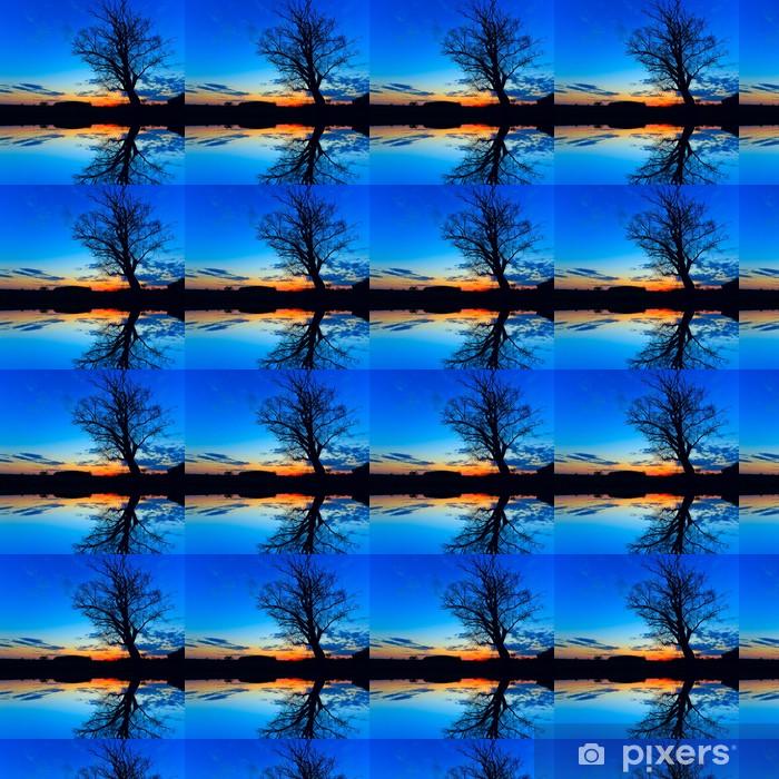 Vinyl behang, op maat gemaakt Oude boom in de nacht - Bomen