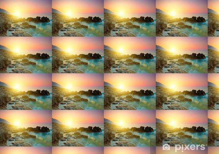 Vinyltapete Sea sunset - Himmel