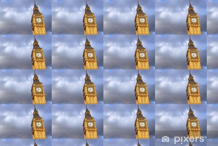 Tapeta na wymiar winylowa Big Ben w Londynie w tle chmur - Miasta europejskie