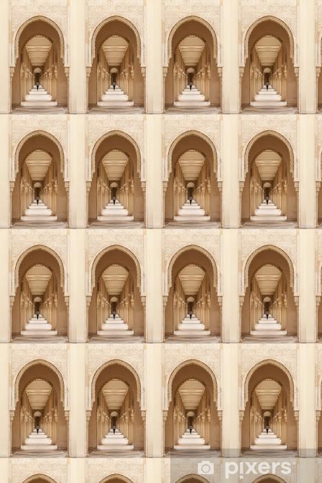 Vinylová tapeta na míru Casablanca, Maroko: Spletité exteriér mramoru a mozaiky kamene - Veřejné budovy