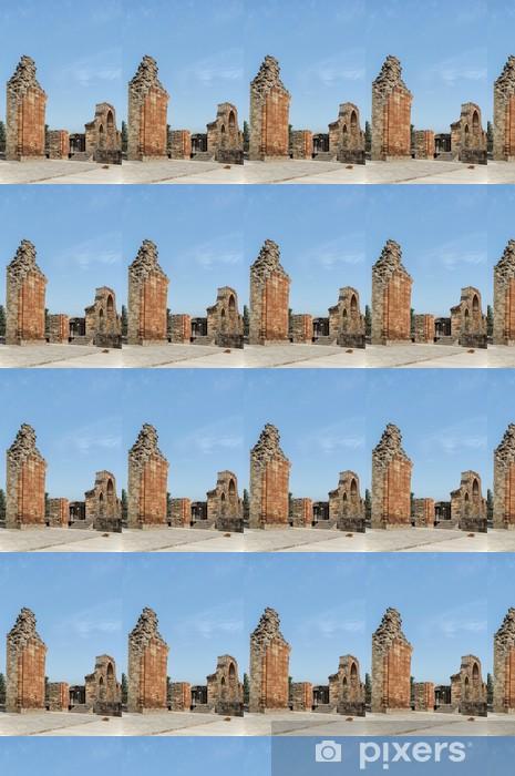 Papier peint vinyle sur mesure Qutub voûte en briques et les ruines - Monuments